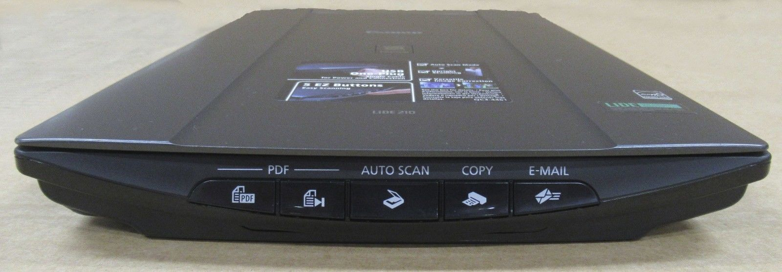 canon lide 210 scan to pdf